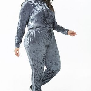 Forever 21 Plus Size Velour Tracksuit Size 2x
